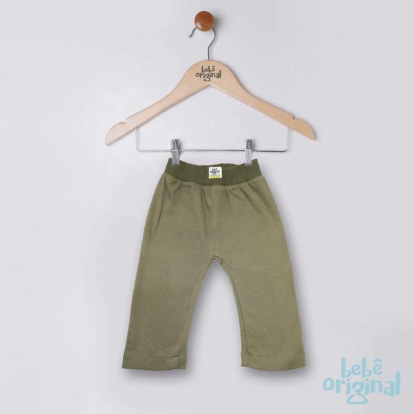 Calca-Verde-Militar-100--Algodao-Menino-Nenem