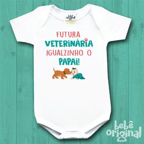 Body-de-Bebe-de-profissoes---futura-veterinaria---papai---Manga-Curta