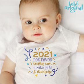 Body-Bebe-menina-Manga-Curta-Muito-Leite-e-Diversao-Ano-Novo