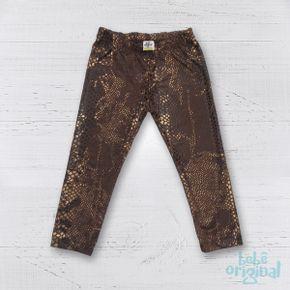Legging-Animal-Print-Marron-Dourado-Bebe-H