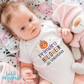 body-bebe-primeiro-halloween-abobora-unicornio-com-nome-H-