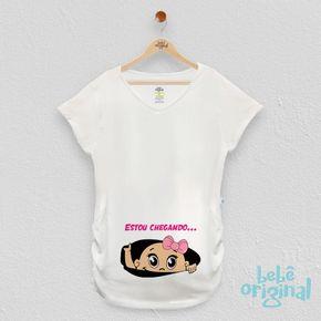 camiseta-de-gravida-estou-chegando-menina-H